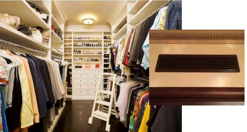 гардеробные устанавливают в помещениях, имеющих небольшой размер